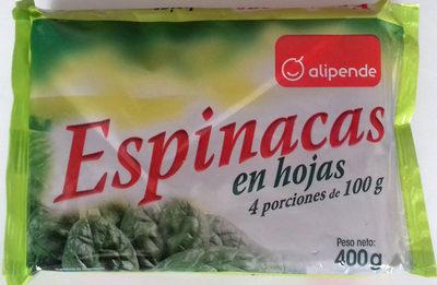Espinacas en hojas - Producte - es