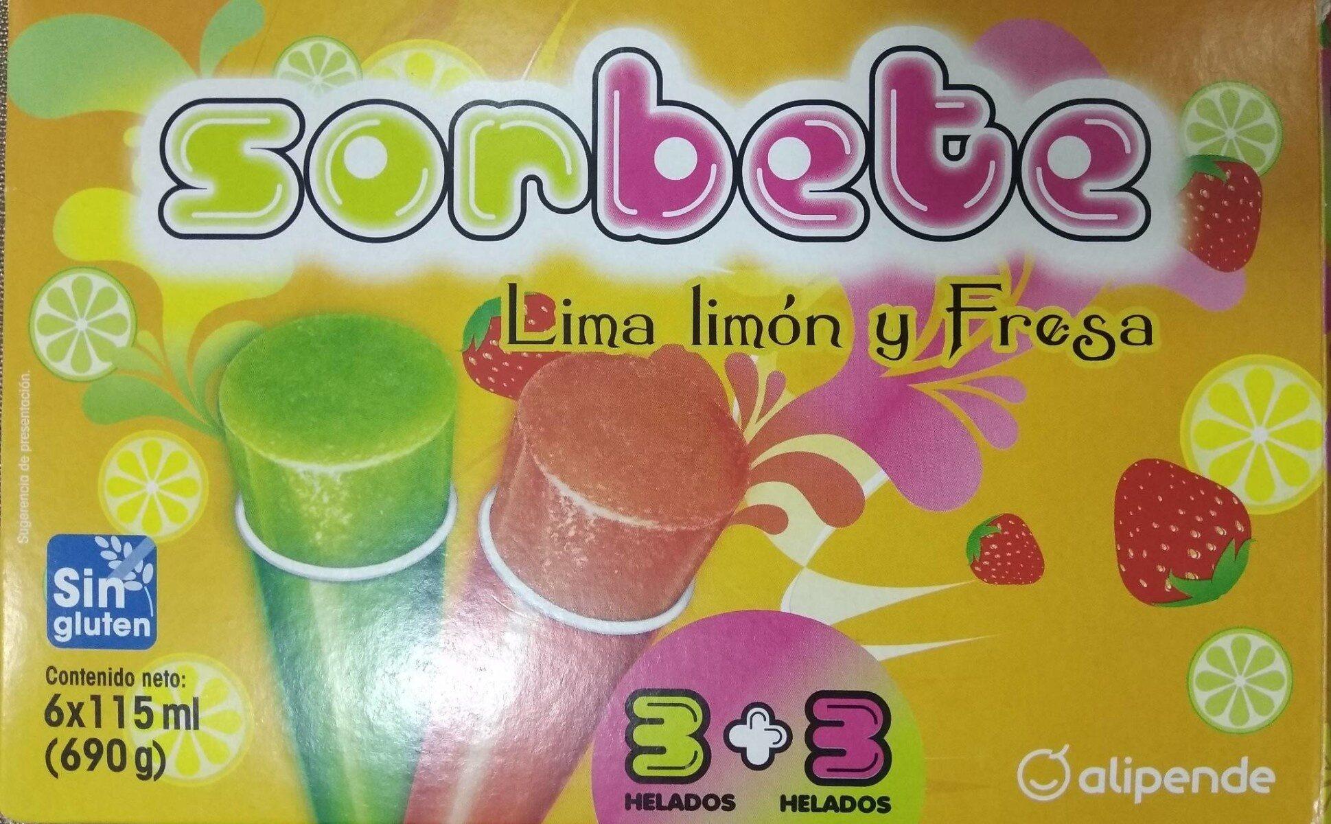 Sorbete Lima limón y Fresa - Produit - es