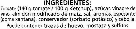 "Salsa kétchup ""Alipende"" - Ingredientes"