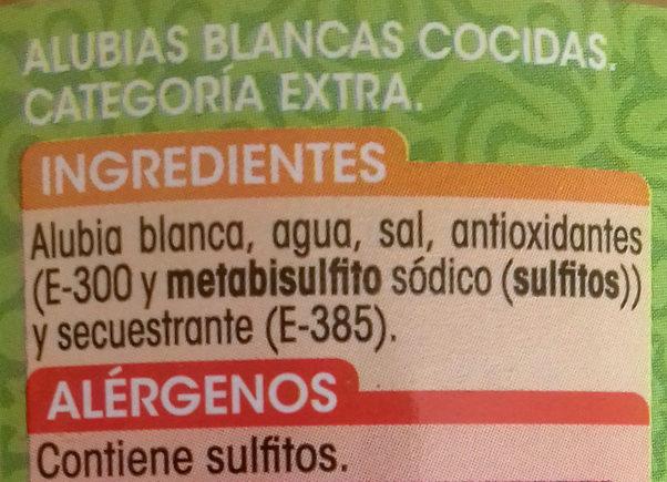 Alubias blancas extra - Ingredients - es