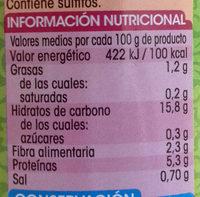 Alubias blancas extra - Informació nutricional - es
