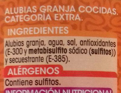 Alubia Granja - Ingredients