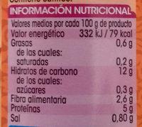 Alubia Granja - Informació nutricional
