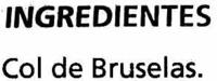Coles Bruselas congeladas - Ingrédients