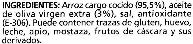 Arroz cocido integral - Ingredients - es
