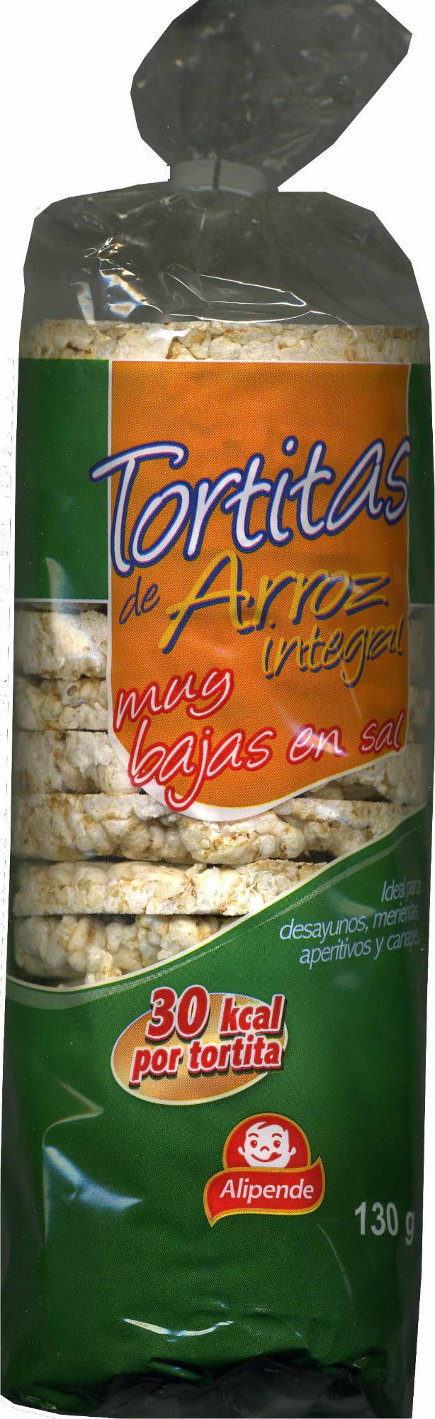 Tortitas de arroz integral bajas en sal - Produit