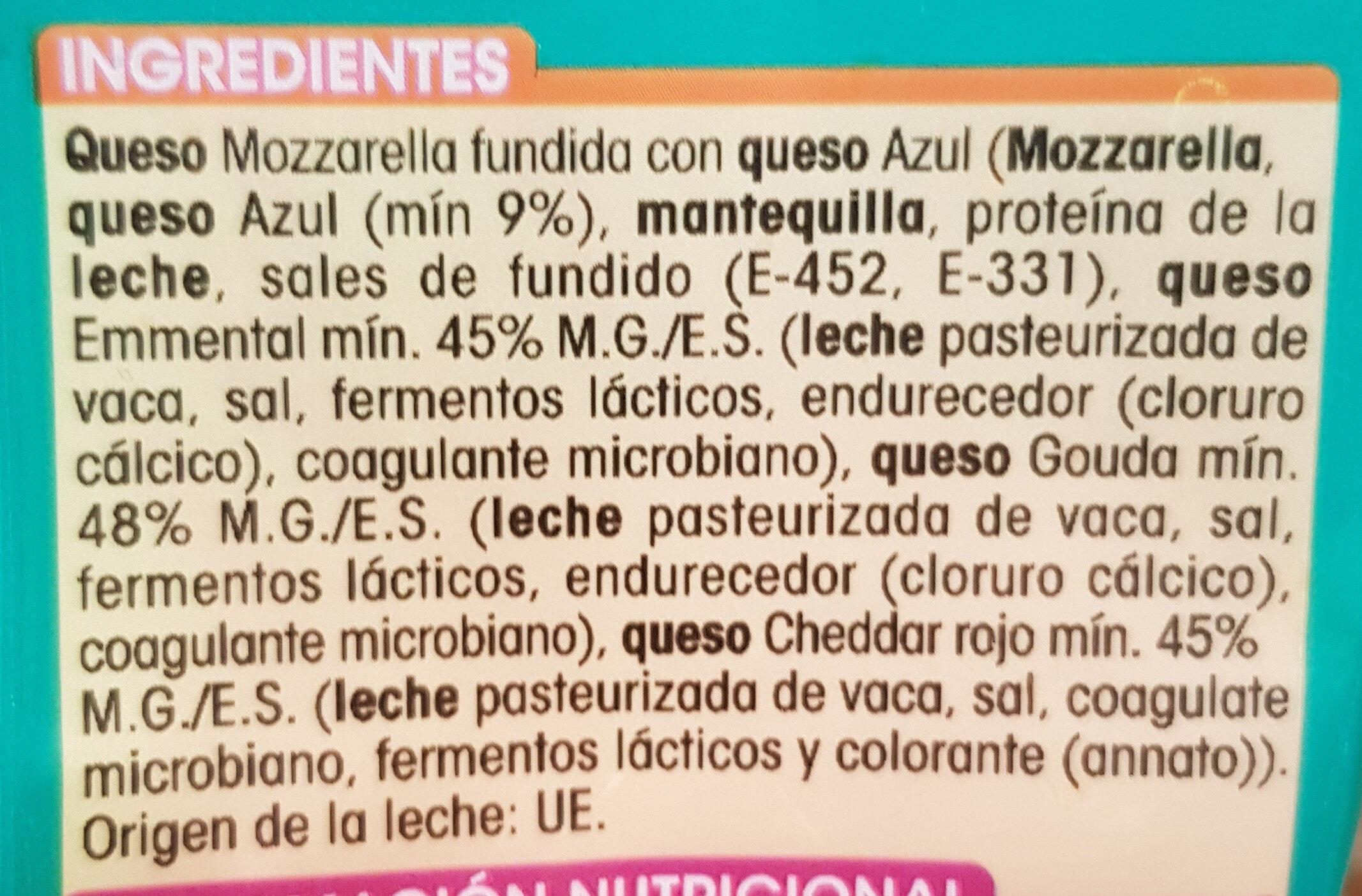Queso rallado 5 quesos - Ingredients