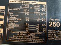 Turrón blando calidad suprema - Información nutricional