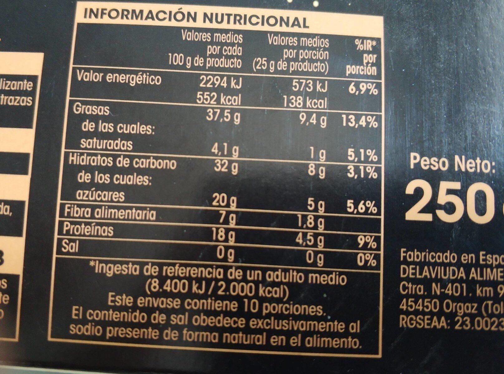 Turrón blando calidad suprema - Información nutricional - es