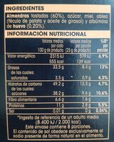 Torta imperial calidad suprema - Nutrition facts