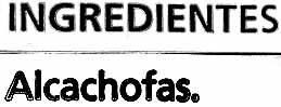 Alcachofas congeladas - Ingredientes