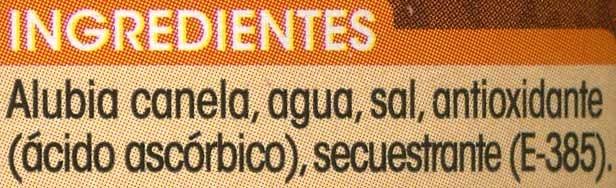 Alubia canela - Ingredientes - es