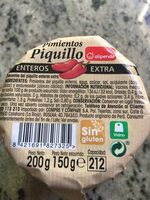 Pimientos piquillo - Informations nutritionnelles - es