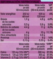 Bebida de soja - Nutrition facts - es