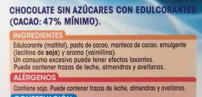 Chocolate puro - Ingredients