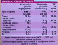 Chocolate Especial Fundir - Informació nutricional