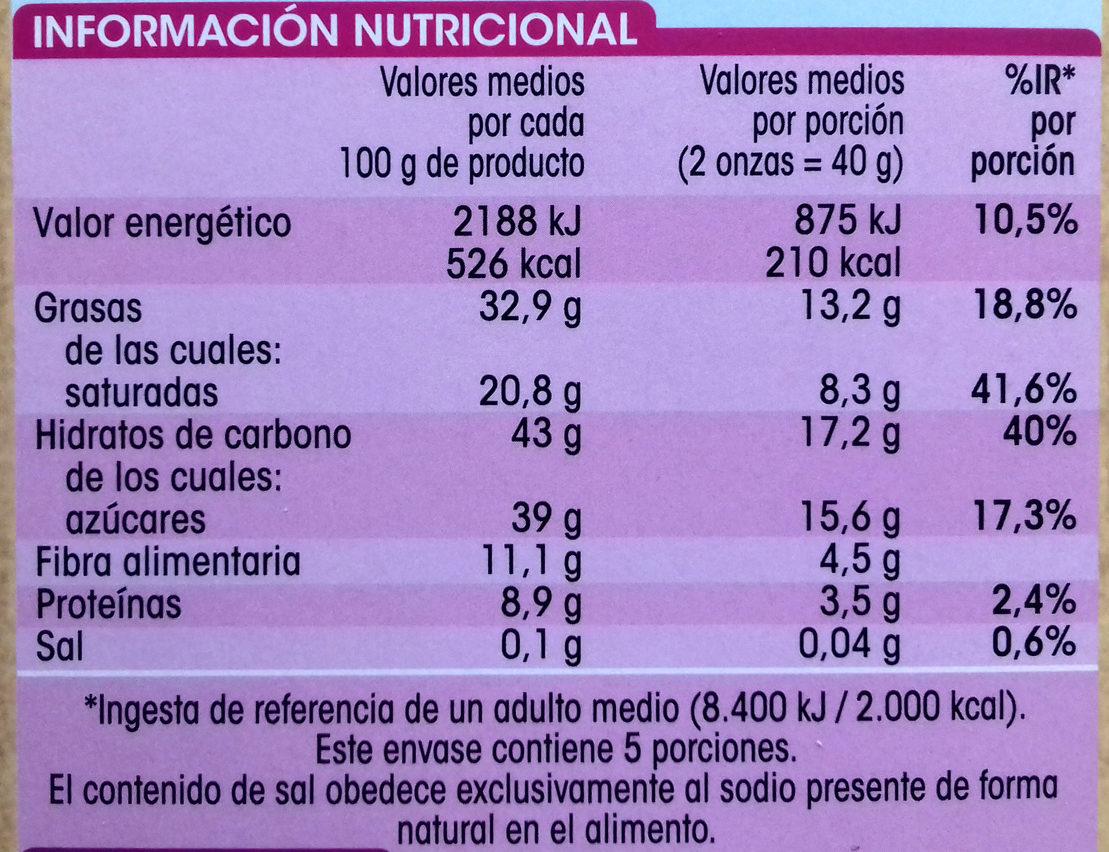 Chocolate Especial Fundir - Informació nutricional - es