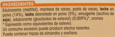 Chocolate con leche stevia - Ingredients - es