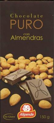 Tableta de chocolate negro con almendras 47% cacao - Producte - es