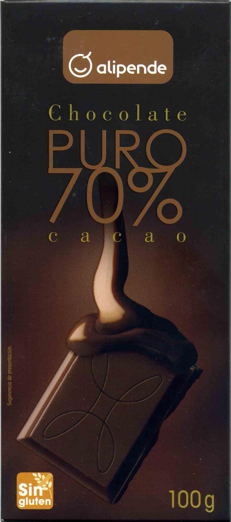 Chocolate puro 70% cacao - Producto - es
