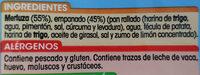 Varitas de merluza - Ingredientes - es