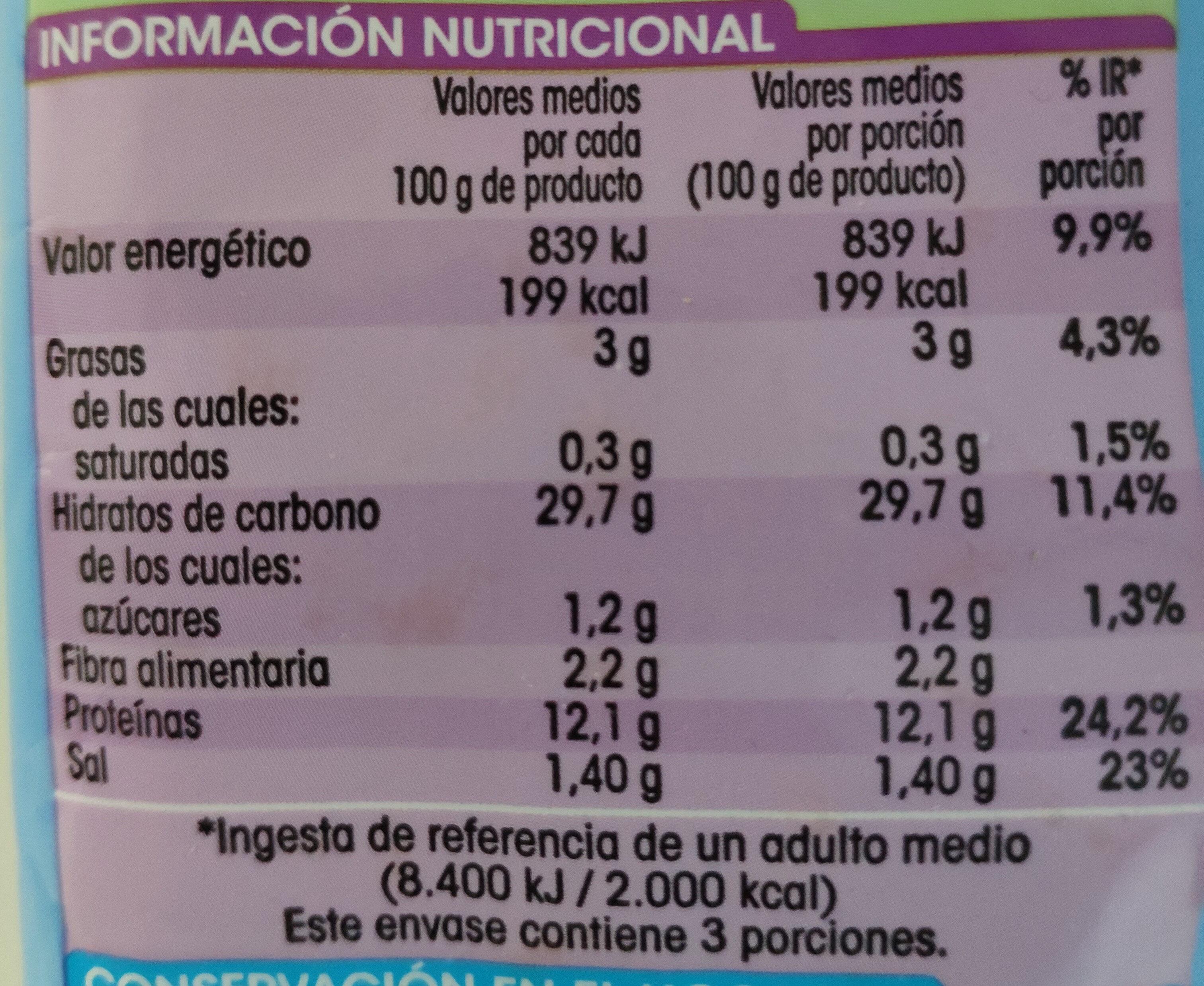 Varitas de merluza - Información nutricional - es