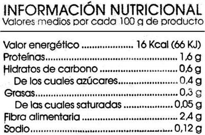 Ensalada Suprema - Información nutricional