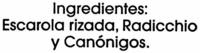 Ensalada gourmet - Ingredientes