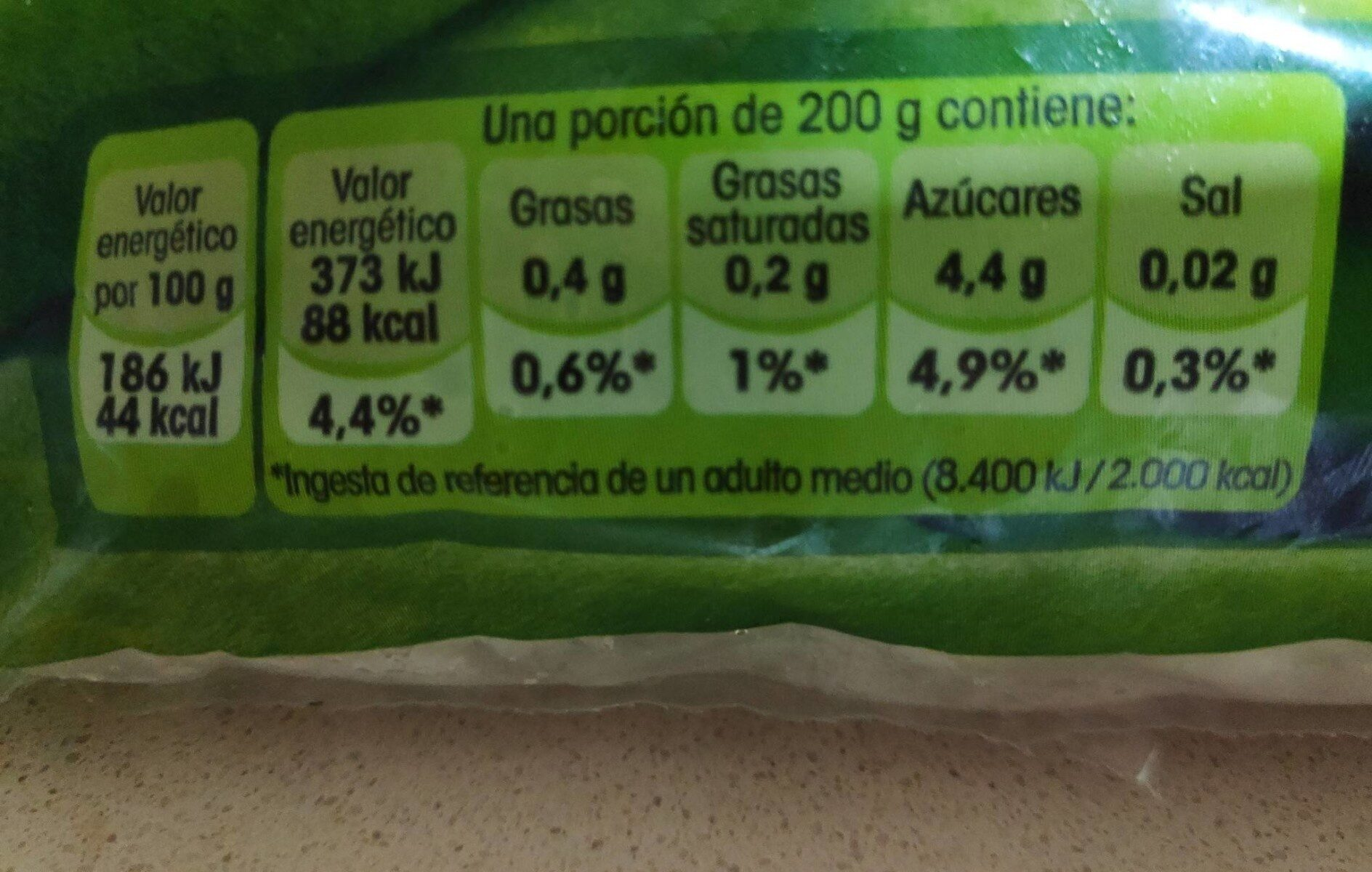 Judías verdes planas - Informations nutritionnelles - es