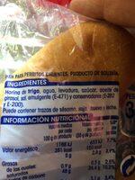 Panecillos hot dog - Ingrediënten