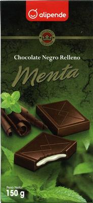 Chocolate negro relleno menta - Producto
