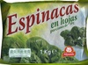 Espinacas en hojas - Producto
