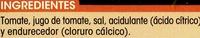 Tomate Entero Pelado Extra - Ingredientes - es