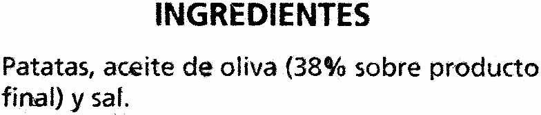 Patatas Fritas Extracrujientes - Ingredientes - es