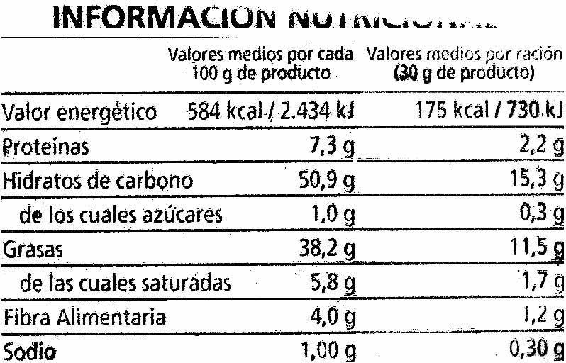 Patatas Fritas Extracrujientes - Informations nutritionnelles - es