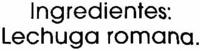 Lechuga romana - Ingredientes - es