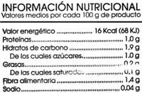 Ensalada mediterránea - Informations nutritionnelles - es