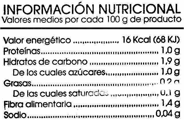 Ensalada mediterránea - Información nutricional - es