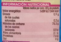 Arroz basmati - Nutrition facts