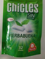 Chicles sabor hierbabuena SIN azúcar - Producto