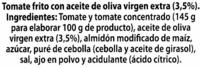 """Tomate frito """"Alipende"""" con aceite de oliva - Ingredientes"""