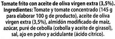"Tomate frito ""Alipende"" con aceite de oliva - Ingredientes - es"