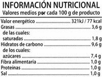 """Tomate frito """"Alipende"""" con aceite de oliva - Voedingswaarden - es"""
