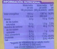 Paella marisco - Informació nutricional - es