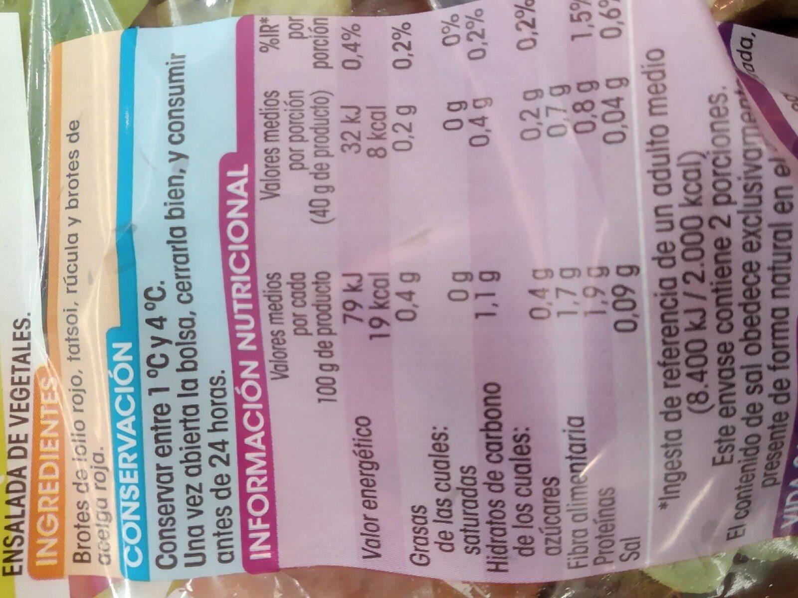 Ensalada capricho - Voedingswaarden - es