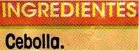 """Cebolla troceada congelada """"Alipende"""" - Ingredientes"""