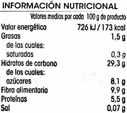 Ajo troceado - Información nutricional