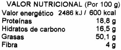 Almendra - Información nutricional - es