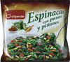 Espinacas con pasas y piñones - Produit