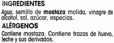 Mostaza alipende - Ingredients - es